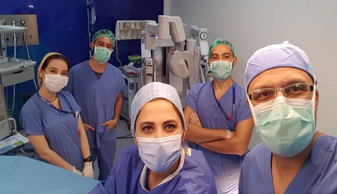 Robotik cerrahi ile hayata tutundu